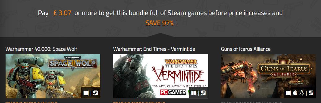 Warhammer Alliance Bundle - £0.77 - £3.07 @Indiegala
