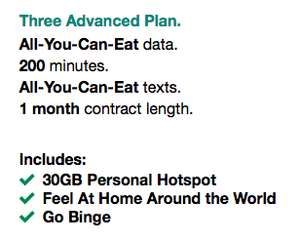 Three 3 Mobile - All you can eat data / unlimited data for £27 on a rolling 1 month contract