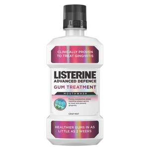 50% off Listerine Advanced Mouthwash 500ml £2.79, free delivery @ Superdrug