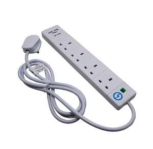 SMJ Pro Power 13 Amp Extension Lead with 2 x USB Ports £5 @ Wickes