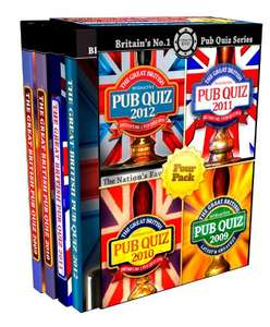 The Great British Interactive Pub Quiz - Four Pack [Interactive DVD] £3.99 (Prime) / £5.98 (non Prime)  @ Amazon