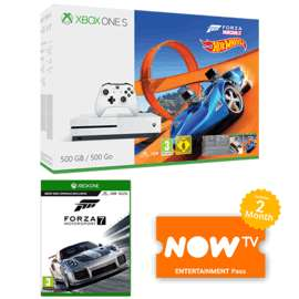 Xbox One S Forza 500GB Horizon 3 + Hot Wheels Bundle + Forza Motorsport 7 + NOW TV 2 Months Entertainment Pass £199.99 or with Forza Motorsport 7: Ultimate Edition​ £219.99 @ Game