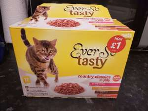 Pets at home ever so tasty cat food 12 sachets  £1.