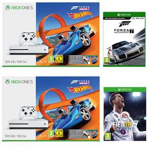 Xbox One S 500GB Forza Horizon 3 + Hot Wheels DLC + Forza Motorsport 7 £199.95 or with Fifa 18 £197.95 with 3 Years Guarantee @ John Lewis