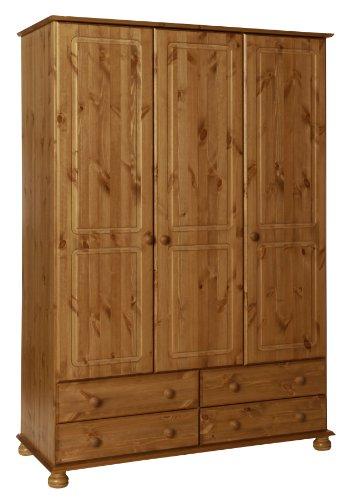 Furniture To Go Copenhagen 3-Door 4-Drawer Robe, 186 x 130 x 57 cm, Antique Pine £123.57 @ Amazon