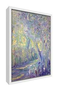 Feel Good Art Rhapsody in Bloom White Framed Canvas with Solid Front Panel , Wood, Multi-Colour, X-Large £16.28 @ Amazon