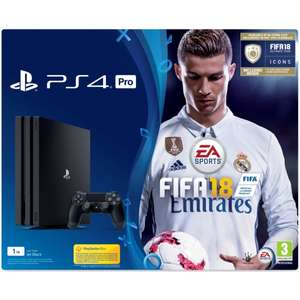 PS4 Pro 1TB FIFA 18 Bundle with FIFA 18 Ultimate Team Icons and Rare Player Pack - £314.99 - 365Games