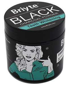 Briyte ® BLACK Charcoal TEETH WHITENING Powder £1 Add on Item Sold by Briyte and Fulfilled by Amazon