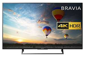Sony Bravia KD49XE8004 49 inch TV (4K HDR Ultra HD, Android TV, X-Reality PRO, Triluminos Display, Youview and Freeview HD - Black (2017 Model) £639 @ Amazon - Lightning deal
