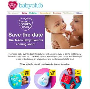 Tesco Baby Event starts 11th October
