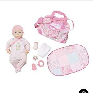 Baby annabell Mia doll with bag and 6 accessories was £50 now £30 asda,george free c+c