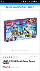 Lego friends 41324 ski lift. £34.99 at Smyths  (£43.99+ everywhere else)