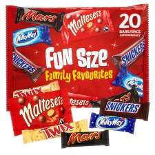 Mars Variety Funsize 20 Pack 358G Half Price Now £1.75 @ Tesco