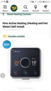 Hive thermostat £150 Travis Perkins