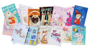 10 Greetings Cards for £1 e.g. Birthdays, Thank You @ Works Instore (48 designs to choose from)