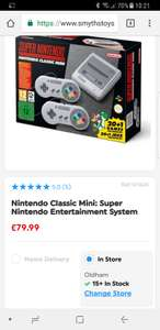SNES Classic Mini in-store £79.99 Smyths Toy Store
