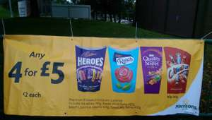 4 boxes for £5 mix and match - Morrisons instore and online
