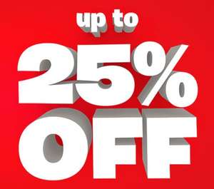 Smyth's have up to 25% off selected toys until 16th October.