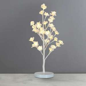 Tulsa White Rose LED Lamp now just £8.40 @ Dunelm