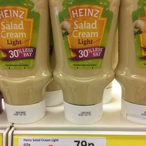 Heinz Salad Cream 30% Reduced Fat 425g 79p @ Heron Foods.