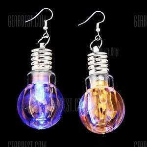 Colorful LED Luminous Earrings 59p delivered @ GearBest