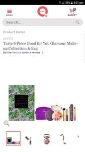 Tarte 6 Piece Good for You Glamour Make-up Collection & Bag (only £11.24 - four payments via easy pay) - £49.91 Delivered @ QVC