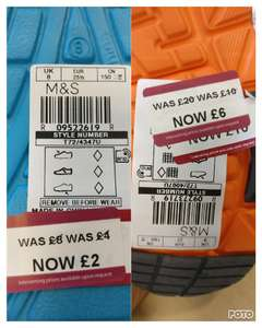 M&S Further Reductions Up to 75% off instore
