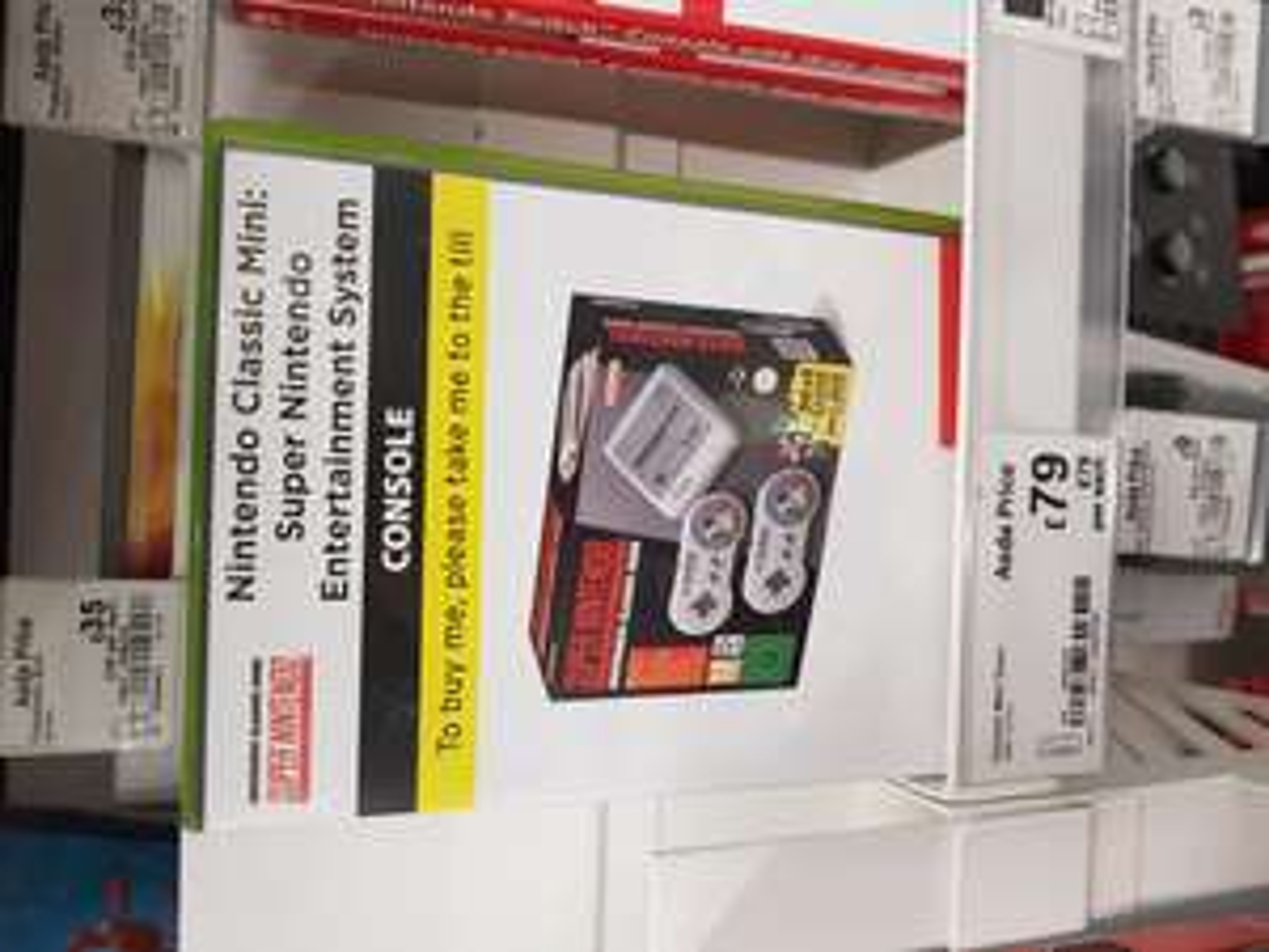 SNES mini classic Nintendo £79 Asda in-store Ashton-Under-Lyne