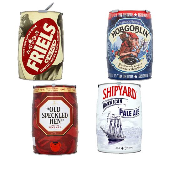 5L Beer Kegs £11 each @ Morrisons - Includes Friels Vintage Cider / Shipyard / Hobgoblin / Old Speckled Hen
