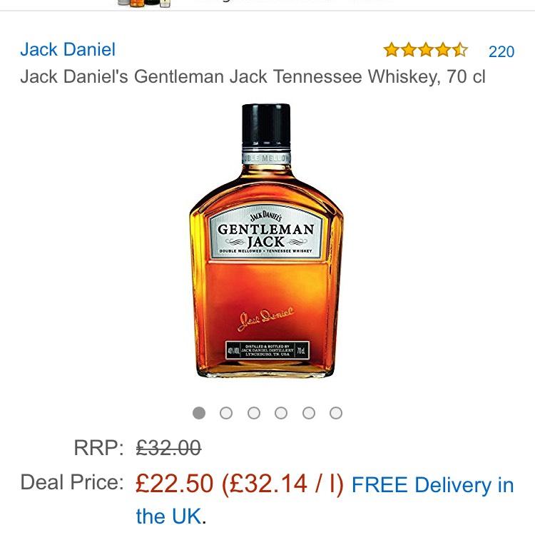 Gentleman jack 70cl £22.50 @ Amazon