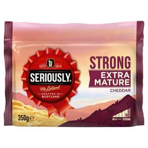 Seriously Strong Cheddar Extra Mature 350g & Vintage 300g, two for £3.52 (£1.76 each) @ Waitrose w/MyWaitrose card