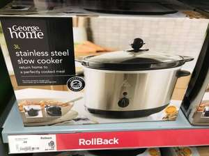 3L slow cooker in Asda ... online & in store - £9