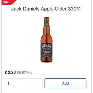 3 x jack Daniels apple cider at Tesco on 3 for £5.25 deal
