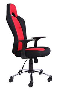 Office Essentials Racing Style Office Chair - Red/Black £56.41 possibly £41.41 for Students  @ Amazon