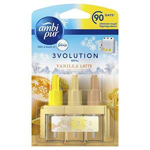Ambi pur 3Volution Air Freshener Plug-In Refill, 20 ml, Vanilla Latte, Pack of 6 - £6.99 amazon  sold by AMOS UK.
