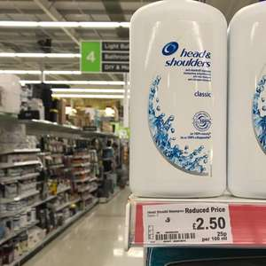 head and shoulders classic 1000m1 £2.50 at Asda instore