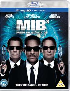 MEN IN BLACK 3 3D (INCLUDES ULTRAVIOLET COPY) BLU-RAY £1.99 + £1.99 delivery (free over £10)- Zavvi
