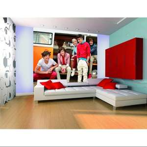 1 WALL Official One Direction Campervan Wall Mural 1D £1.00 + £6.95 delivery - ilovewallpaper