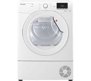 Hoover Dynamic Next DXC10TG Condenser Tumble Dryer @ Currys - SMART control from phone. £269.99 free next day delivery.