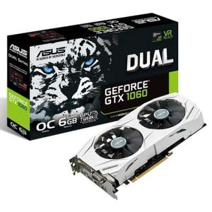 Asus NVIDIA GTX 1060 6GB DUAL OC Graphics Card £279.99 -  Ebuyer