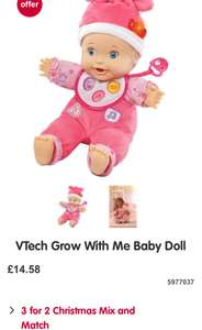 £25 vtech interactive doll for £10 (with 3 for 2) - Boots