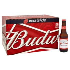 Budweiser 24 pack 300ml bottles  only £12 instore and online at asda