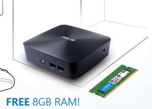 Free 8GB DDR4 RAM with all ASUS VivoMini PCs £289.99 -  icubes