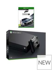Xbox One X Console with Forza 7 £379.99 With 20% Off New Customer Code @ Very (Working)