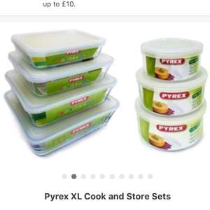 Pyrex Cook and Store 14 piece container set £31.98 delivered @ Groupon. Was £75.98.