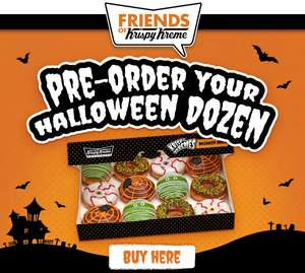 Limited Edition Halloween Dozen Spooky Doughnuts available to Pre-Order @ Krispy Kreme