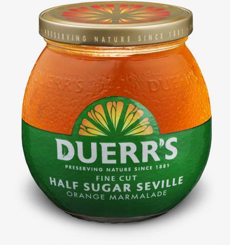 Duerrs Half Sugar Fine Cut Seville Orange Marmalade 390g jar now 10p @ B&M instore