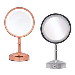 Triple Points *Today Only* on selected Electrical Beauty - E.G No7 Illuminated Makeup Mirror £18.99 + 288 points @ Boots (Silver or Rose Gold)