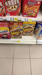 Chocolate Weetos 500g £1.37 @ Tesco (instore)