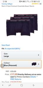 Tommy Hilfiger 3 pack boxer shorts £17 prime / £20.99 non prime @ Amazon